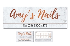 Amy-Nails-Signage & Business-card
