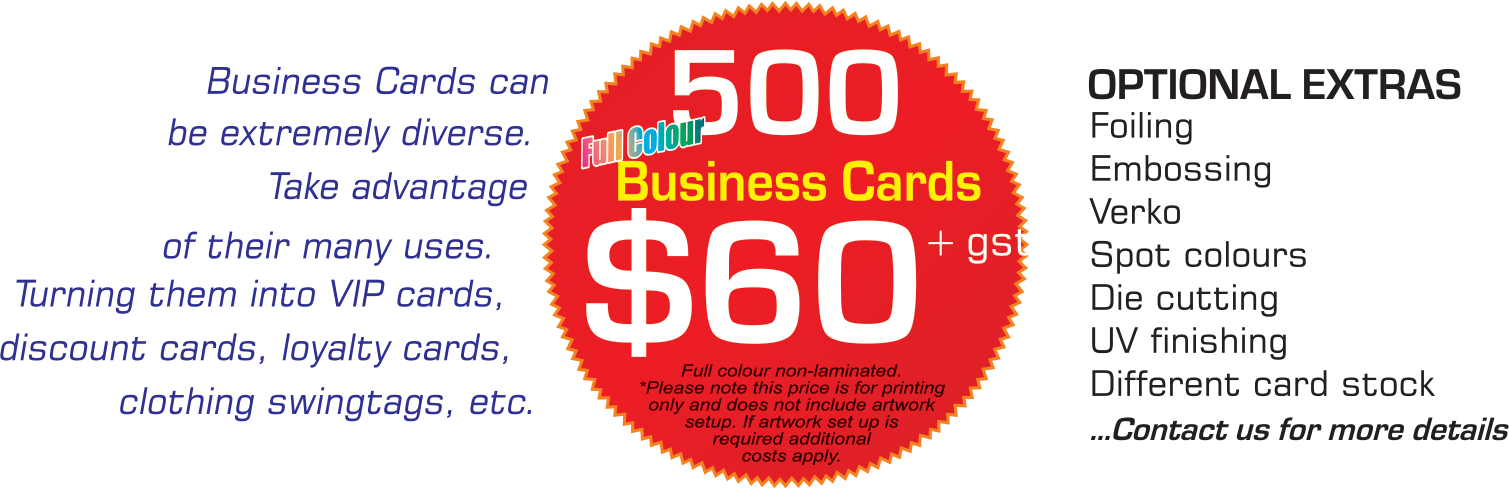 Full Colour Business Cards Price Perth